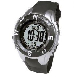 Pyle Uhr mit digitalem Kompass, Chronograph, Stimulator und Countdown (schwarz)