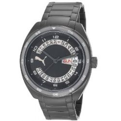 Puma Time Herren-Armbanduhr XL Course Metal- L Black Analog Quarz Edelstahl PU102521006
