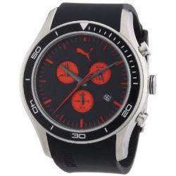 Puma Herren-Armbanduhr XL Ride Chronograph Plastik A.PU102651001