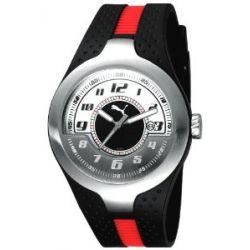 Puma Time Herren-Armbanduhr XL Piston Silver White Analog Quarz Plastik PU101781002