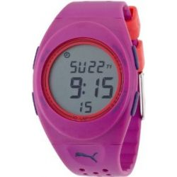 Puma Time Damen-Armbanduhr Faas 250 Purple Digital Quarz Plastik PU910942006