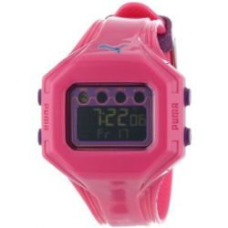 PUMA Damen PU910772005 Bounce-S Rosa Digitaluhr