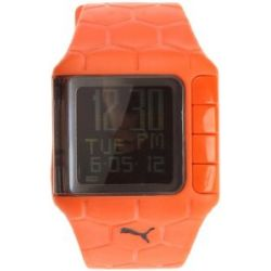 Puma Herren-Armbanduhr Digital Plastik orange Orange