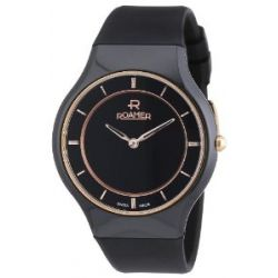 Roamer Damen-Armbanduhr CERALINE PASSION Analog Quarz Kautschuk 684830 SCK3
