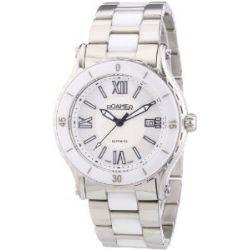 Roamer Damen-Armbanduhr CERALINE PURE Analog Quarz verschiedene Materialien 942980 SMC1