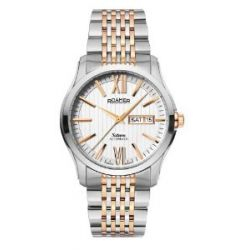 Roamer Herren-Armbanduhr XL SATURN AUTOMATIC Analog Automatik Edelstahl beschichtet 941637 SRGM1