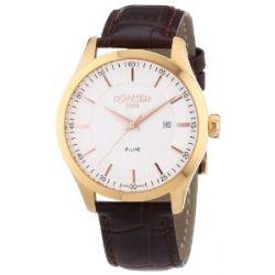 Roamer Herren-Armbanduhr XL R-LINE Analog Quarz Leder 943856 RGL1