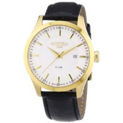 Roamer Herren-Armbanduhr XL R-LINE Analog Quarz Leder 943856 GL1