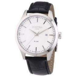 Roamer Herren-Armbanduhr XL R-LINE Analog Quarz Leder 943856 SL1