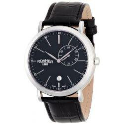 Roamer Herren-Armbanduhr XL VANGUARD Analog Quarz Leder 934950 SL3