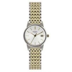 Rotary Damen-Armbanduhr XS Analog Quarz Edelstahl beschichtet LB02751/03