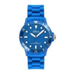 s.Oliver Unisex-Armbanduhr Medium Size Silikon blau SO-2301-PQ