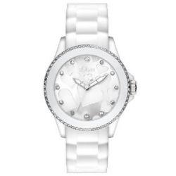s.Oliver Unisex-Armbanduhr Medium Size Analog Silikon SO-2419-PQ
