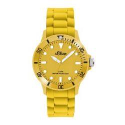 s.Oliver Unisex-Armbanduhr Medium Size Silikon gelb SO-2304-PQ