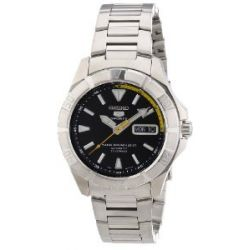 Seiko Herren-Armbanduhr XL Seiko 5 Analog Automatik Edelstahl SNZD27K1