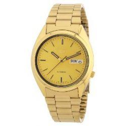 Seiko Herren-Armbanduhr XL Seiko 5 Analog Automatik Edelstahl beschichtet SNXL72
