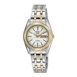 Seiko Damen-Armbanduhr XS Seiko 5 Analog Automatik Edelstahl beschichtet SYMH88K1