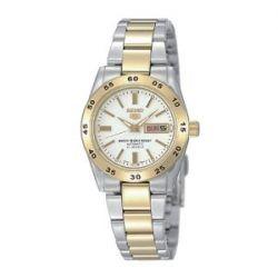 Seiko Damen-Armbanduhr XS Seiko 5 Analog Automatik Edelstahl beschichtet SYMG42K1