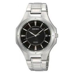 Seiko Unisex-Armbanduhr Analog Quarz Edelstahl SGEF61