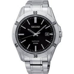 Seiko Herren-Armbanduhr XL Analog Quarz Edelstahl SGEG55P1