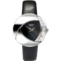 Seksy Ladies 'Ivory' Black Strap Watch - 4530