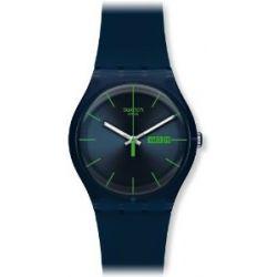 Swatch Damen-Armbanduhr Blau Rebell SUON700