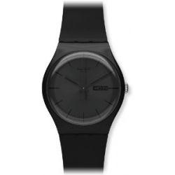 Swatch Damen-Armbanduhr Schwarz Rebell SUOB702