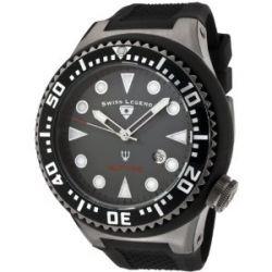 Swiss Legend Herren-Armbanduhr Neptune Analog Gummi Schwarz SL-21818D-GM-014B