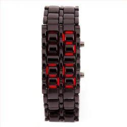 LED Uhr Schwarz / Rot Trend Watch Face Style Sport Herrenuhr Damenuhr HOT