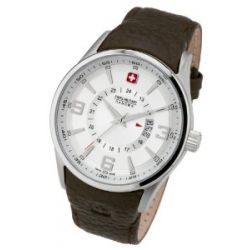 Swiss Military Hanowa Herren-Armbanduhr XL Analog Quarz Leder 06-4155.04.001.05