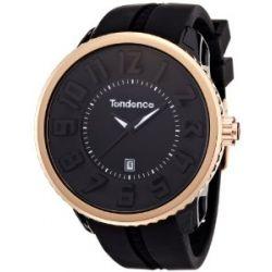 TENDENCE Damen-Armbanduhr GULLIVER ROUND - BLING Analog Kunststoff schwarz 02043012AA