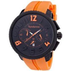 TENDENCE Unisex-Armbanduhr GULLIVER ROUND - FUNKY Analog plastik orange 2046023