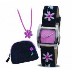 Tikkers Mädchen-Armbanduhr Analog Formgehäuse rosa ASG-001