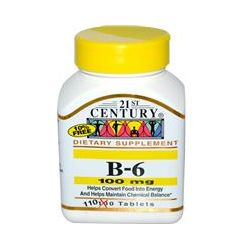 21st Century Health Care, B-6, 100 mg, 110 Tablets
