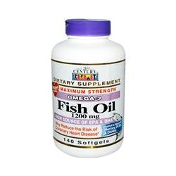 21st Century Health Care, Fish Oil, Omega-3, Maximum Strength, 1200 mg, 140 Softgels