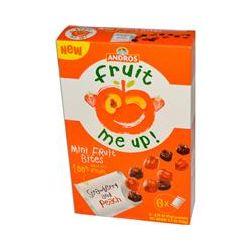 Andros Fruit Me Up!, Mini Fruit Bites, Strawberry & Peach, 6 Pouches, 0.74 oz (21 g)