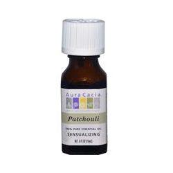 Aura Cacia, 100% Pure Essential Oil, Patchouli, .5 fl oz (15 ml)