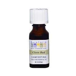 Aura Cacia, 100% Pure Essential Oil, Clove Bud, .5 fl oz (15 ml)
