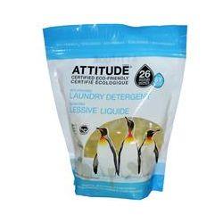ATTITUDE, Eco-Pouches Laundry Detergent, Essential Oils Lavender & Grapefruit, 26 Pouches, 13.7 oz (390 g)