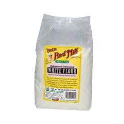 Bob's Red Mill, Organic White Flour, Unbromated Unbleached, 48 oz (1.35 kg)