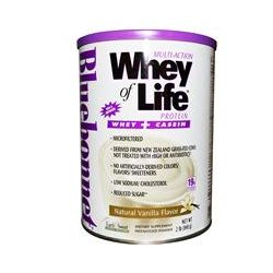 Bluebonnet Nutrition, Multi-Action Whey of Life Whey Protein, Natural Vanilla Flavor, 2 lbs (840 g)