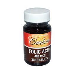 Carlson Labs, Folic Acid, 400 mcg, 300 Tablets