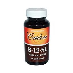 Carlson Labs, B-12-SL, 1000 mcg, 180 Tasty Tablets