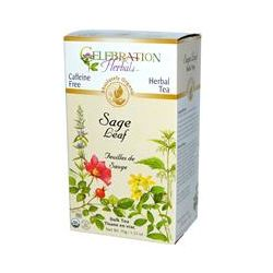 Celebration Herbals, Organic, Herbal Tea, Sage Leaf, Bulk Tea, Caffeine Free, 1.23 oz (35 g)
