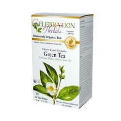 Celebration Herbals, Organic, Herbal Tea, Chinese Classic Favourite Green Tea, 24 Tea Bags, 1.27 oz (36 g)