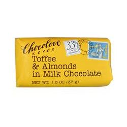 Chocolove, Toffee & Almonds in Milk Chocolate, 1.3 oz (37 g)