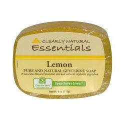 Clearly Natural, Essentials, Pure and Natural Glycerine Soap, Lemon, 4 oz (113 g)