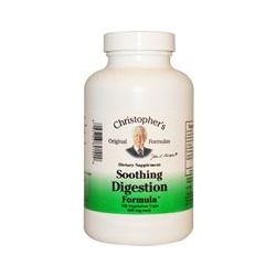 Christopher's Original Formulas, Soothing Digestion Formula, 600 mg Each, 180 Veggie Caps