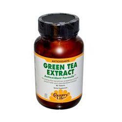 Country Life, Gluten Free, Green Tea Extract, Antioxidant Formula, 90 Tablets