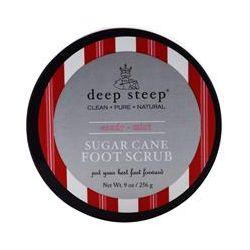 Deep Steep, Sugar Cane Foot Scrub, Candy - Mint, 9 oz (256 g)
